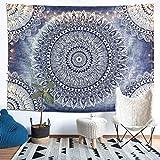 LOMOHOO Tapiz Pared Mandala Tpaesrty Indio Indian Gypsy Bohemian Ombre Gift Hippie Tapestries Dorm Deco Tela de Estampado Colgante de Pared Decoración (L/148cmx200cm)