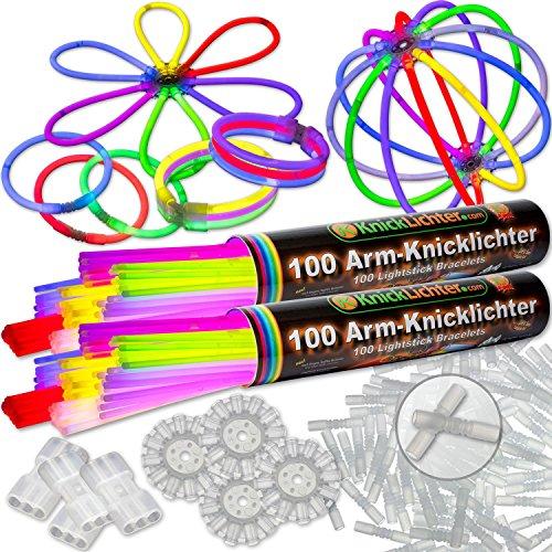 (200 Knicklichter 7-FARBMIX Testnote: 1,4 'SEHR GUT' inkl. 204 Verbindern)