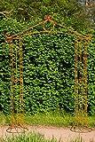 KUHEIGA Imposanter Rosenbogen 10mm Massiveisen! Breite: 180cm Rost Rankbogen aus Metall