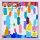 ArtzFolio Abstract Artwork 58 Printed Bulletin Board Notice Pin Board cum White Framed Painting 16 x 16inch
