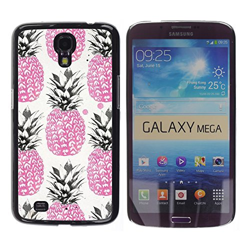 WonderWall Tapete Bunt Bild Handy Hart Schutz hülle Case Cover Schale Etui für Samsung Galaxy Mega 6.3 I9200 SGH-i527 - Rosa 420 Unkraut Cannabis Obst
