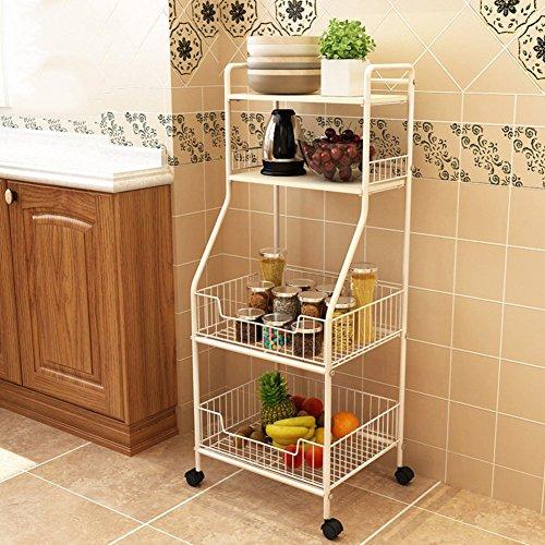 DULPLAY Regal Korb, Eisen Küche Regal Multifunktions-einfache Houseware Speicher Rack einen Mikrowelle Rack dickem Stahl, Eisenguss, C, 45x17x13inch(114x42x34cm) (Pantry-speicher-körbe)