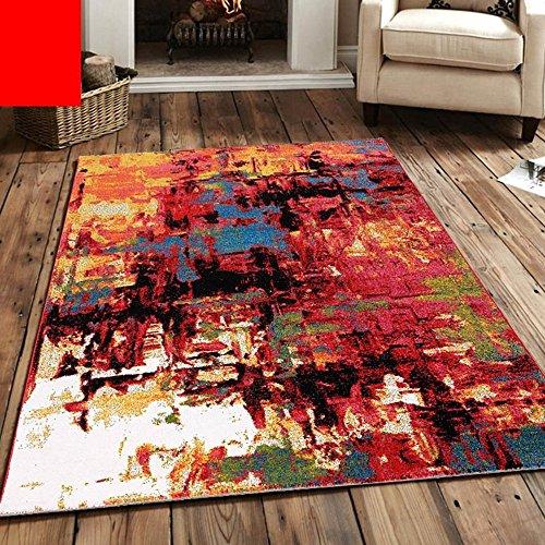 KYDJ Amerikanische Nordic Wohnzimmer Schlafzimmer Bett personalisierte Mode abstrakte Kunst Couchtisch einfach und modern Teppich (Farbe, Größe Optional) (Farbe: G)