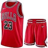 LDFN Jersey Baloncesto Chicago Bulls Jersey Baloncesto (Michael Jordan) Nº 23 Transpirable Sudor Absorbente de tamaño estánda