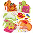 Ambari Elephant Felt Cushion Sewing Kits Pre-Cut Felt Pieces and Decorations for Children to Sew & Make as Gifts (Pack of 2)