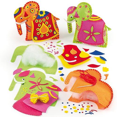 Baker Ross Kits de Costura de Cojines de Elefantes Hindús Manualidades Creativas...