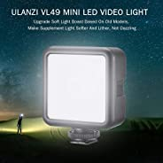 ulanzi VL49 Mini LED Video Light Photography Lamp 6W Dimmable 5500K CRI95+ Built-in Rechargeable Lithium Battery with Cold Sh