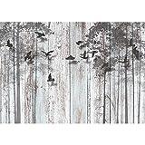 Papel Pintado Fotográfico Look de madera abstracto 396 x 280 cm Tipo Fleece no-trenzado Salón Dormitorio Despacho Pasillo Decoración murales decoració