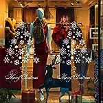 Gudotra 2pz Vetrofanie Adesivi Natale Murali Fai da Te Finestra Decorazioni Natalizie Vetrina Sfondo