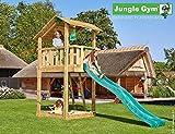 Spielturm Jungle Shelter - Set mit Feuerwehrstange Sandkasten Kletterturm - Jungle Gym (inkl. Holzpaket)