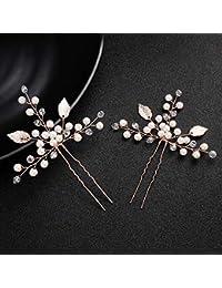 zubehör hochzeit braut pearl haarnadeln ornament blatt form haarspange spange