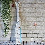 LF DD Kleiderhaken kreative hängenden Haken Mittelmeer Boot Zellstoff Haken Holz Paddel Wanddekoration (Farbe : White B)