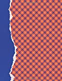 Orange and Blue Journal: (8.5 x 11 Large)(Dot Grid) Blank School Colors Notebook College High School Student Organizer Planner Alumni Booster Club ... Diary Unique Plaid Cover Torn Paper Binding