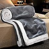 RATEL Mantas para Sofa Gris 150×200cm, Mantas para Cama Mejorada 460GSM, Manta de Microfibra 100% Supersuave - Fácil De Cuida