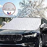 Scheibenabdeckung,DIAOCARE Auto Frontscheibe Abdeckung Frostabdeckung Windschutzscheiben Abdeckung Winter,Magnet Fixierung Auto Abdeckung Anti-Schnee Wind Frost (148 x 118 cm)