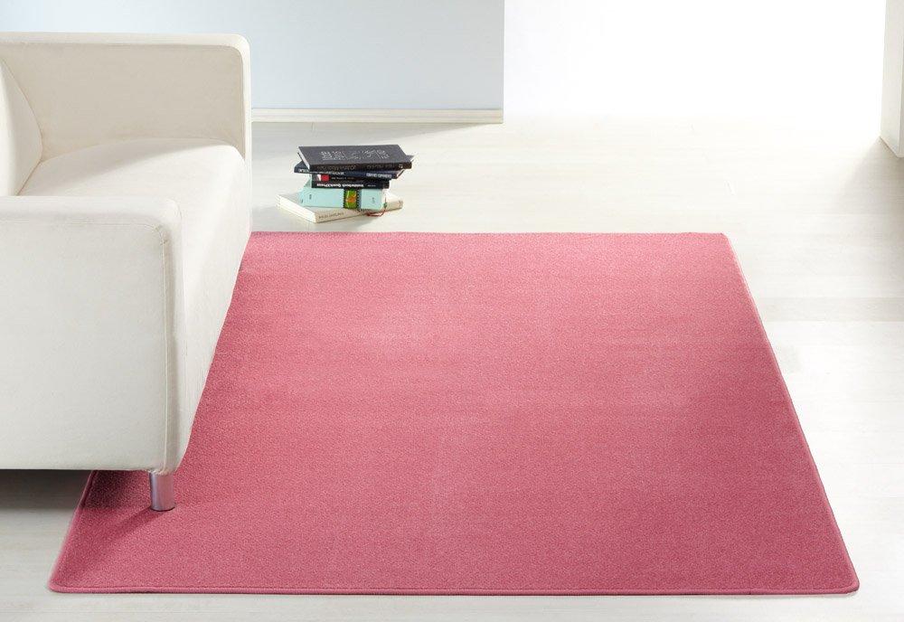 Amazonde Hanse Home 101147 Uni Teppich 140 X 200 Cm Rosa