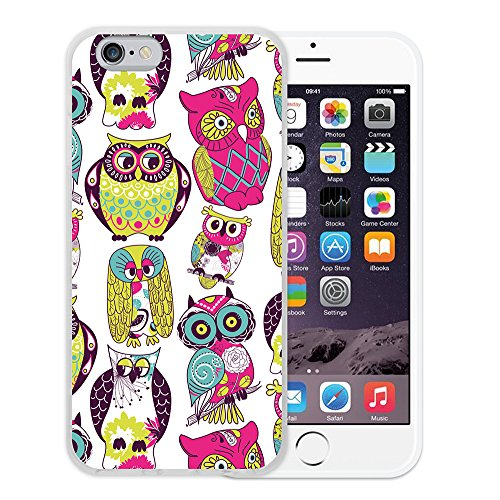 WoowCase Hülle Case für { iPhone 6 6S } Handy Cover Schutzhülle Graffiti Funny Farben Housse Gel iPhone 6 6S Transparent D0519