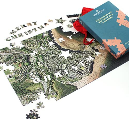 Merry Christmas Personalised Map Jigsaw Puzzle (Aerial Photography (England (England (England and Wales only)) | Le Prix De Marché  9f46d5