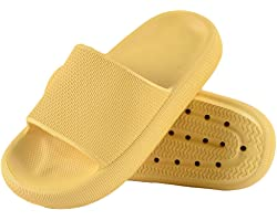 Menore Slippers for Women and Men Quick Drying EVA Open Toe Soft Shower Slippers Non-Slip Spa Bath Pool Gym House Sandals Ind