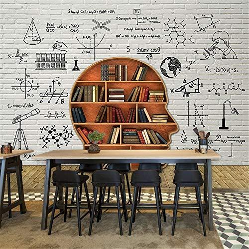 ZCHENG 3D dreidimensionale Simulation Ziegel Muster Tapete Wandbild Regale Schlafzimmer studieren Büro Klassenzimmer Schulungen Hintergrund Wallpaper, 250x175 cm (98,4 nach 68,9 in)