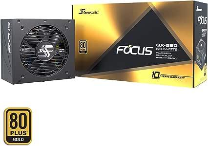 Stagionale FOCUS GX-550 Alimentatore PC completamente modulare 80PLUS Oro 550 Watt