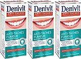 Denivit - Dentifrice - Anti-Tache Fumeur - Fraîcheur Intense - Tube 50 ml - Lot de 3