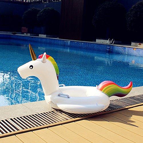 Aufblasbare Luftmatratze mit Getränkehalter Schwimmbad Schwimmring Schwimmreifen Kleinkind Sicherheit Aufblasbare Sitzring Sitz Schwimmen-Ring Cartoon Schwebebett Pool Party (Kleinkind Angel Wings)