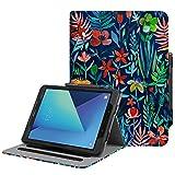 Fintie Hülle für Samsung Galaxy Tab S3 T820 / T825 (9,68 Zoll) Tablet - Multi-Winkel Betrachtung Kunstleder Schutzhülle Case Cover mit Dokumentschlitze und Auto Schlaf/Wach Funktion, Dschungelnacht