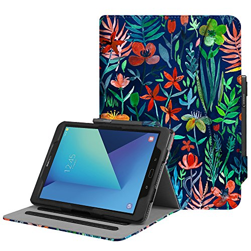 "Fintie Samsung Galaxy Tab S3 9.7 Cover, [Multi-angli] Folio Smart Cover Pieghevole Custodia con Funzione Auto Sleep/Wake per Samsung Galaxy Tab S3 9.7"" LTE Tablet, Jungle Night"