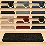 Kettelservice-Metzker Stufenmatten Treppenmatten Ramon® Rechteckig - 5 aktuelle Farben - 15 Stk. Anthrazit