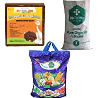 Kraft Seeds Vermicompost 4kg & Cocopeat 4kg & 4kg Organic Manure in One Box Trio Organic Manure Pack -Expands Upto…