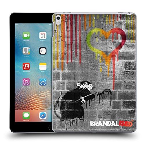 Preisvergleich Produktbild Offizielle Brandalised Liebe Ratte Banksy Kunst Farbtropfen Ruckseite Hülle für Apple iPad Pro 2 10.5