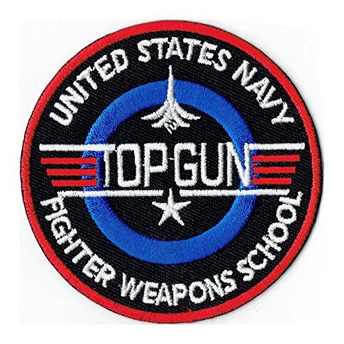 Preisvergleich Produktbild 65 mm USA TOP GUN Navy Fighter Weapons School US Patch Aufnäher Aufbügler 0502 B