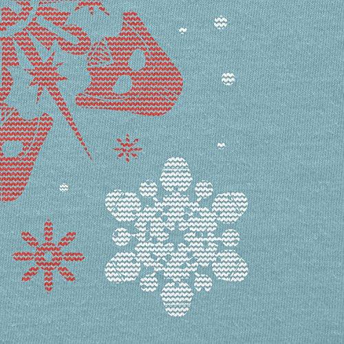 TEXLAB - Star Flakes - Damen T-Shirt Hellblau