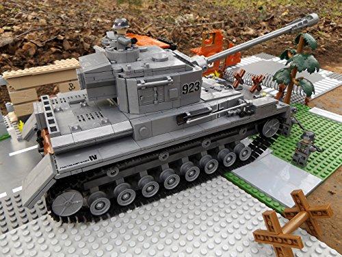 Modbrix 8210 – ✠ Bausteine Panzer IV Ausf. F, 1000 Teile, inkl. custom Wehrmacht Soldaten aus original Lego© Teilen ✠ - 4