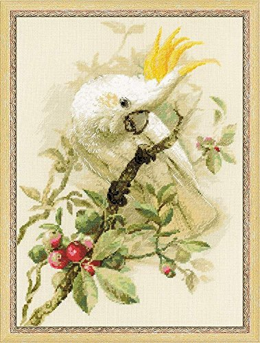 Riolis White Cockatoo Cross Stitch kit, Baumwolle, Multi-Color, 30 x 40 x 0,1 cm -