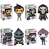 Overwatch Tracer, Reaper, WidowMaker, Winston 6-Inch Pop! Vinyl Figures Set of 4 by Overwatch