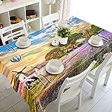 FaceToWind 3D Nappe Carré Rond Polyester Table Basse Tissu Imperméable À l'eau Et À La Poussière Table Couverture Tissu Frais d'impression Agricole, 152x228 cm...