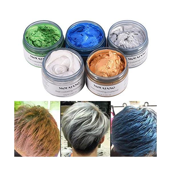120 ML Cera temporal para colorear, Crema Para Colorante Pelo Temporal duradera, profesional, cera – Color del cabello…