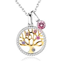 Collana Albero Della Vita con Cristalli di Swarovski Collana Donna Gioielli in Argento 925, Festa della Mamma Regalo…