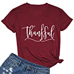 MIMOORN Women's Short Sleeve Letter Printed V Neck Tee Tops Casual T-Shirt