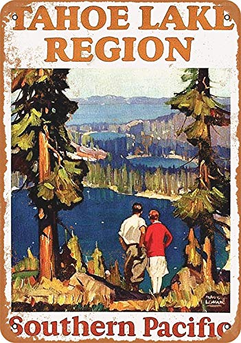 Wise Degree 1928 Southern Pacific Railroad to Lake Tahoe Metallblechschild Poster Wand K¨¹Che Kunst Cafe Garage Shop Bar Dekoration
