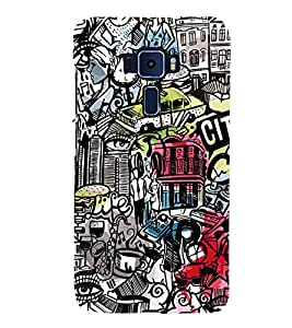 Citi Wine Disco Music 3D Hard Polycarbonate Designer Back Case Cover for Asus Zenfone 3 Deluxe ZS570KL