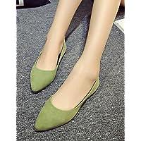 ZQ YYZ Zapatos de mujer - Tac¨®n Plano - Mocas¨ªn / Punta Redonda / Punta Cerrada - Planos - Casual - Tul - Negro / Azul / Amarillo / Rosa / Morado , purple-us5.5 / eu36 / uk3.5 / cn35 , purple-us5.5