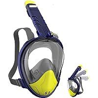 SECOOL Schnorchelmaske Vollmaske Tauchmaske Vollgesichtsmaske Tauchermaske für Kinder und Erwachsene-Snorkel Mask Full…
