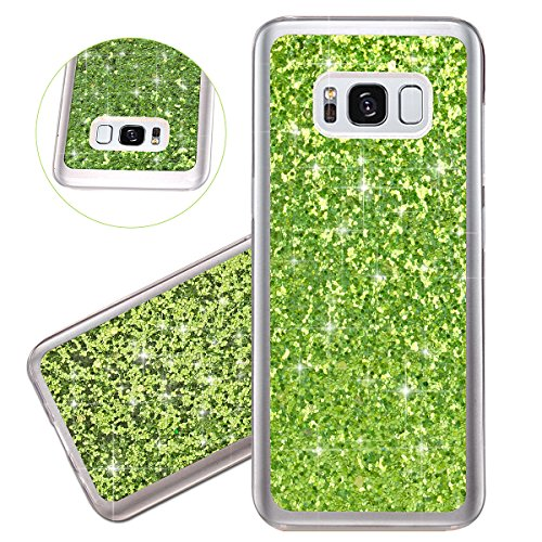 Coque Galaxy S8, Étui Galaxy S8, ISAKEN Coque Samsung Galaxy S8 - Étui Housse Téléphone Étui TPU Silicone Souple Coque Ultra Mince Gel Doux Housse Motif Arrière Case Antichoc Doux Durable Résistant Au vert B