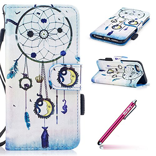 iPhone 7/iPhone 8 Coque de Luxe,iPhone 7/iPhone 8 Case Bookstyle,Hpory Neo élégant Luxe PU Cuir Solid Color Papillon en Relief Motif Book Style Folio Stand Fonction Support PU Leather Walllet Case wit 5