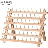 HAITRAL 60-Spool Sewing Thread Rack Thread Organizer Collapsible Wall Mount Stand Holder Perfect for Gift