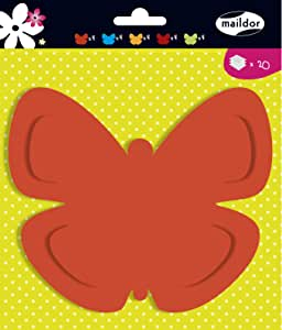 Clairefontaine Coloured Shapes to Decorate, Butterfly, 130gsm
