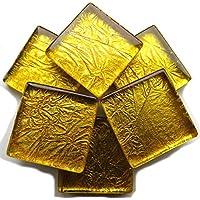 MT0116 m2 1qm Glas Wand Fliese Gold mit folie effekt Die St/ärke betr/ägt 6mm 7,5cm x 15cm